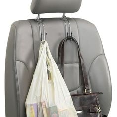 Organization on-the-go has never been easier! Our Car Hooks simply slide on to the back of a headrest to create additional storage space.