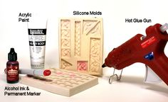 How to make diy embellishments using hot glue and silicone molds.  Yes!