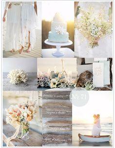 Nice ideas for a beach wedding. Mood Board #71: Pastel Sea