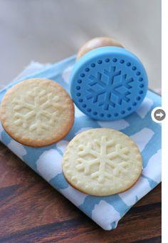 cookies stamp, cookie press, cooki stamp, food, snowflak cooki