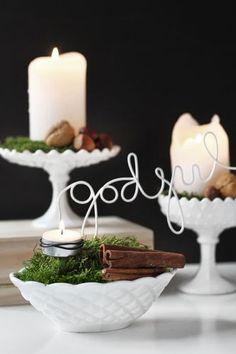 Scandinavian Christmas Decor Ideas via...