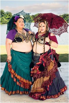 Wendee Abramo and Lauren Shamitz-Crooks of Ki-Ra Luna Dance. Photo by The Dancers Eye Fine Art Bellydance Photography. (plus size belly dance ♥)