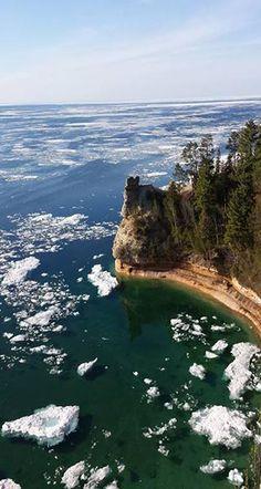 Lake Superior Ice - Munising, Michigan