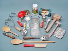 vintage toy kitchen utensils