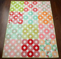 Summer quilt by croskelley, via Flickr