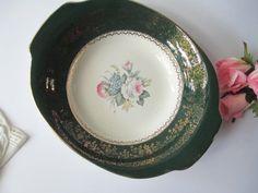 Vintage Salem Princess Anne Green Pink Handled by jenscloset, $14.50