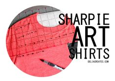 delia creates: Sharpie Art Shirts (+ more T-shirt Inspiration)
