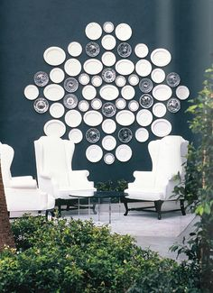 """Kelly Wearstler's """"Great Wall of China"""" at the Viceroy via HomeBunch"""