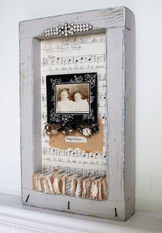 Shadow box collage