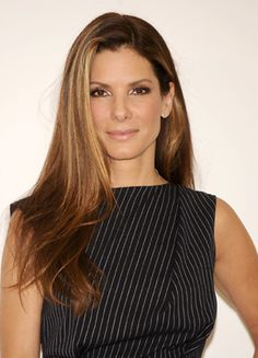 Sandra Bullock.  In my opinion, one of the most beautiful women in the world.  I admire her beauty, humor, independence & strength.