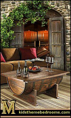 Neat coffee table idea near the outdoor fireplace if we put couch seating out there