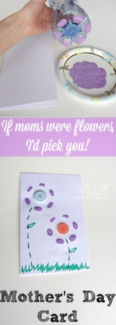 Easy Mother's Day Card Idea using Water Bottle  #mothersdaycard #mothersday #cardideas #spring