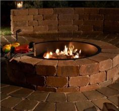 This easy-to-build fire pit kit comes complete with everything needed to build (even gloves) and builds in about 30 minutes. (OK, maybe an hour.) Ten gauge steel fire ring insert and grate are the same used by the U.S. National Park Service and will last a lifetime.|| Necessories Blue Stone Fire Pit with Cooking Grate (the paving stones outside the pit itself are extra)