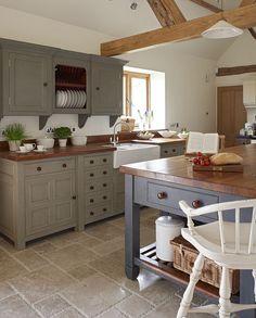 Beautiful Chalon Modern Country kitchen... Grey units