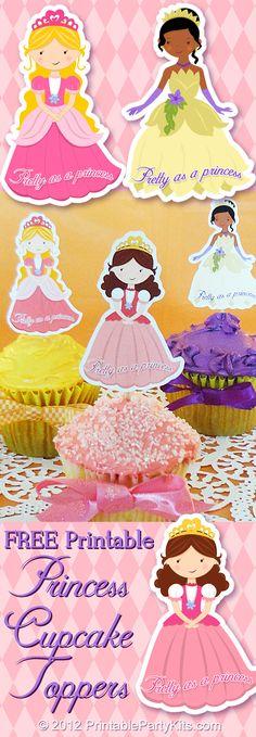 free Printable Princess Party Cupcake Picks