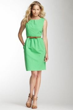 Lime Green Dress.