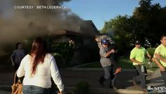 Man rescues stranger from house fire