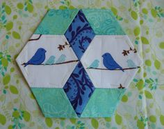 Star and hexagon quilt block ...really cute