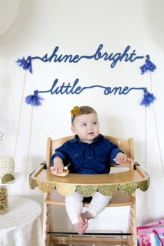 shine bright birthday banner
