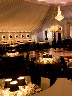 Decoration for the reception venue...