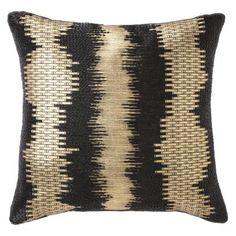 Nate Berkus™ Foil Print Decorative Pillow - Black/Gold