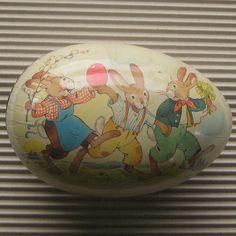 Vintage Germany Papier Paper Mache Egg Container Box Decoration 7 Inch easter idea, eggs, amaz egg, paper mache, easter decor, easter time, vintag eastertim, decor egg, egg art