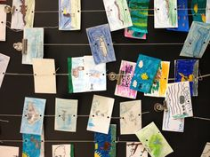 Food web / food chain activity. I saw this at a school I presented at today. I like the idea!