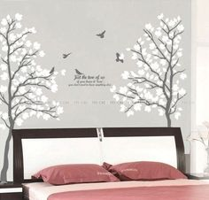 Couple Tree Set of two Nursery Wall Decal Wall by weSticker