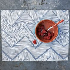 Zigzag plastic placemats from West Elm