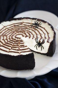 halloween parties, spider webs, spiderweb cheesecak, no bake cheesecake, fall autumn