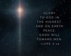 """Glory to God in the"