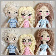 Crocheted dolls  Crocheted people