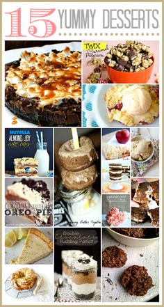 15 Delicious Dessert Recipes... I must make the Rocky Road Cheesecake!