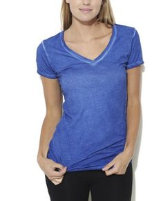 Be in style and stay oh so comfortable with this basic tee with a ...