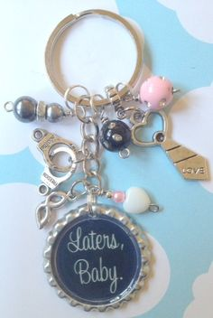 bottle cap key chain Later's Baby Inspired by the best selling book 50 Shades of Grey, EL James book, Christian, Anastasia, Later's Baby. $16.00, via Etsy.