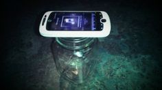 Use a jar to amplify the sound of your portable device!