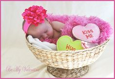 Valentine newborn photo