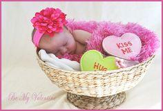 Valentine newborn photo