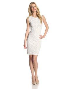 BESTSELLER! Calvin Klein Women's Solid Stripe Dress $38.85