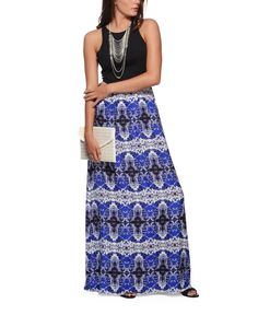 Nell Solid Racerback and Printed Maxi Dress