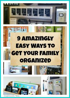 9 Amazing Tips to keep your home organized!