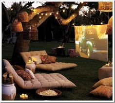 love this picnic & a movie