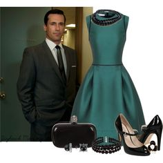 """""""Don Draper Date"""" by jayhawkmommy on Polyvore"""