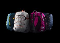 SURGE II DAYPACK, WOMEN'S BOREALIS DAYPACK, WOMEN'S RECON DAYPACK, ROUTER DAYPACK.