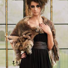Faux Werewolf Fur Wrap