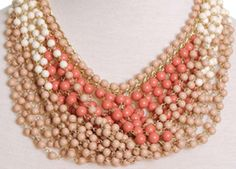 Nude color necklace
