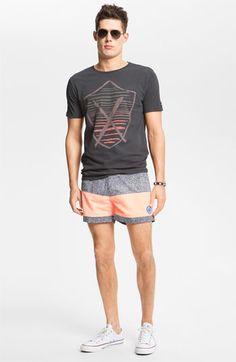 Zanerobe T-Shirt & Warriors of Radness Swim Trunks   Guys Summer Fashion