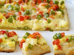 brunch idea, breakfast pizza