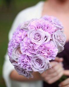 carnation bridesmaids bouquet, shades of purple, wedding bouquets, bride bouquets, bouquet wedding, purple roses, purple bouquets, bridesmaid bouquets, grey dresses