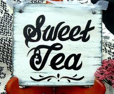 food groups, sweet tea sign, southern food, food tables, drink